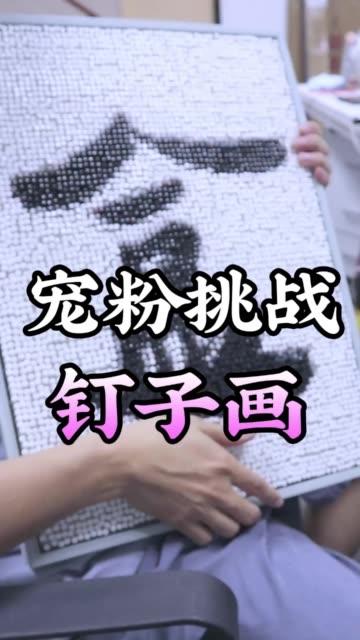 宠粉时间到!用五千颗钉子作画送给你们啦!~ @王大盒的摄像老师(O1313089596) @信口开饭(O47512245
